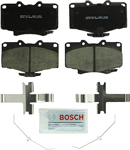 Bosch BC611 QuietCast Premium Ceramic Disc Brake Pad Set For Toyota: 1992-2001 4Runner, 1993-1998 T100; Front