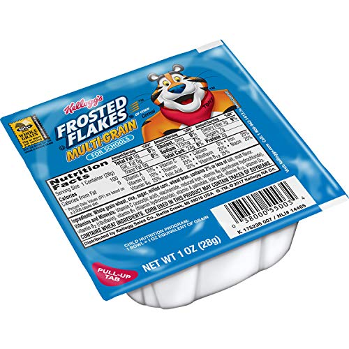 (Kellogg's Frosted Flakes, Breakfast Cereal in a Cup, Multi-Grain, Bulk Size, 96 Count (Pack of 96, 1 oz Cups) )