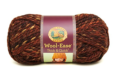 (Lion  640-501A Wool-Ease Thick & Quick Yarn , 97 Meters, Sequoia)