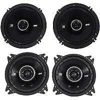 Package: Pair of Kicker 43DSC404 120 Watt 4 Inch 2-Way Car Speakers + Pair of Kicker 43DSC6504 6.5 240 Watt 2-Way Coax Car Stereo Speakers