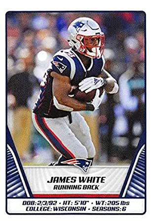 low priced 3455f 99ea1 Amazon.com: 2019 NFL Stickers Collection #69 James White New ...