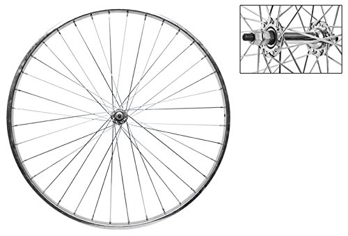 Wheel Master Front Bicycle Wheel 26 x 1 3/8 36H, Steel, Bolt On, Silver by WheelMaster