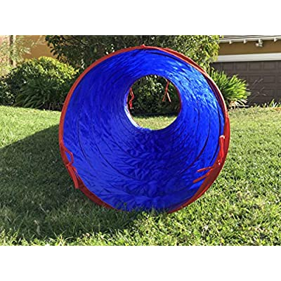 G3ELITE Blue 11' Play Tunnel with Bag, Indoor/Outdoor, for Kids - Boys/Girls, Also Great for Pets, Fast and Easy Set-Up/Fold-Up, Childrens Portable Playhouse Play Tent Tube: Toys & Games