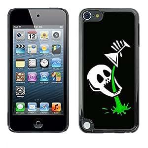 TopCaseStore / la caja del caucho duro de la cubierta de protección de la piel - Funny Skull Skeleton Martini - Apple iPod Touch 5