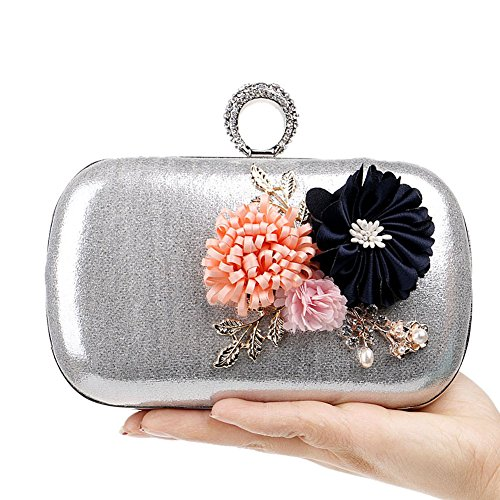Flower Ladies Europe 1 3 Bag QEQE Evening Bag Handmade Color Women's America Simple Clutch And qYwRptHz