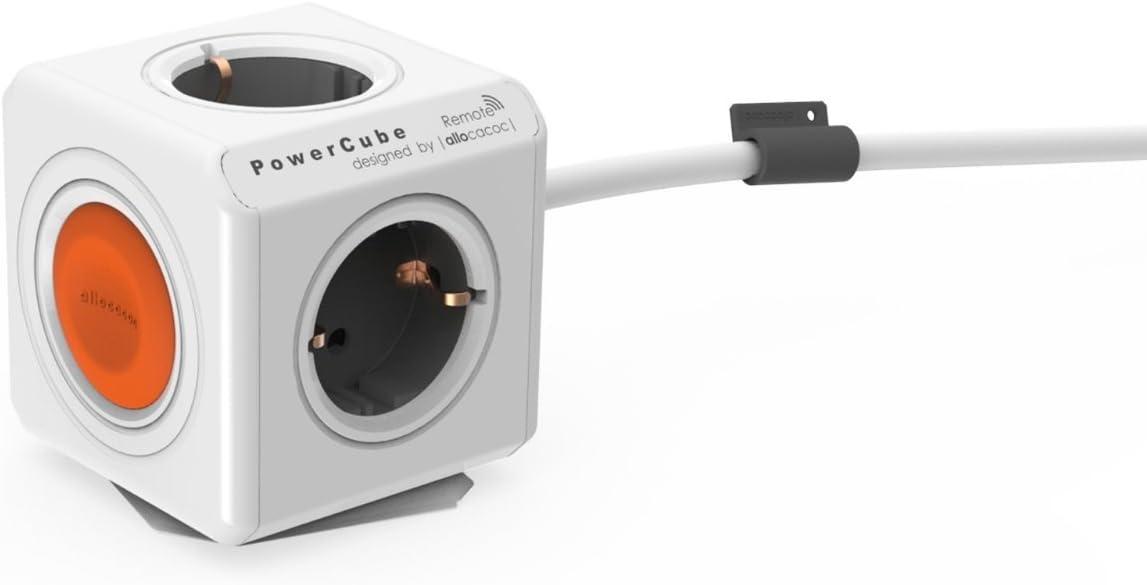 Allocacoc Eco Powercube Remote Extended Mit Schalter 4 Elektronik
