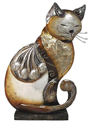 Statue chat assis 27 cm métal statue de décoration de jardin en ...