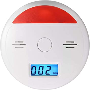 HU ZHANG Alarme JKD-601 Avertissement dalarme LCD D/étecteur de monoxyde de Carbone Empoisonnement testeur capteur s/écurit/é Accueil