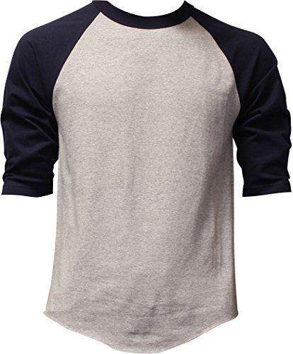 DealStock Casual Raglan Tee 3/4 Sleeve Tee Shirt Jersey -