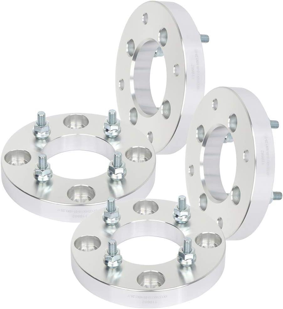 """4x4.5 4x114.3 to 4x137 US Wheel Adapters 10x1.25 Stud hub 1/"""" Thick 74 bore x 4"""