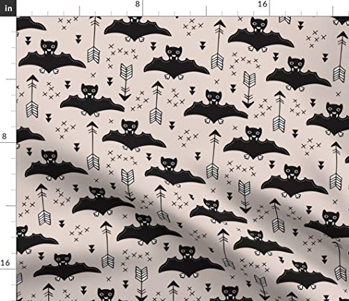 Spoonflower Bats Fabric - Flying Arrows Kids Halloween Cool Trendy by Littlesmilemakers Printed on Fleece Fabric by The -