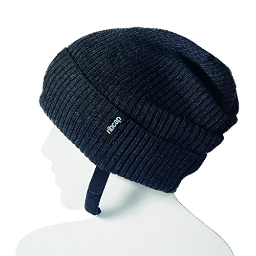 Beanie New Skate - The All New Premium Original Ribcap - Lenny Beanie Cap (Medium, Anthracite)