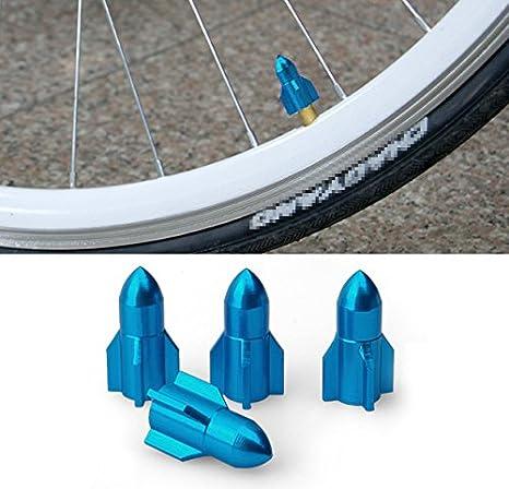 Rocket Forma válvula Schrader para bicicletas de motos bicicletas de montaña nueva rueda Caps: Amazon.es: Coche y moto