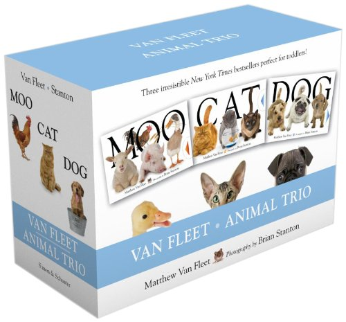 Van Fleet Animal Trio: Moo; Cat; Dog -