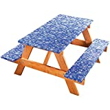 Covers For The Home Elastic Picnic Table Cover 3 Piece Set - Tonal Line Work Pattern - Dress up Any Picnic Table and Benches!!!