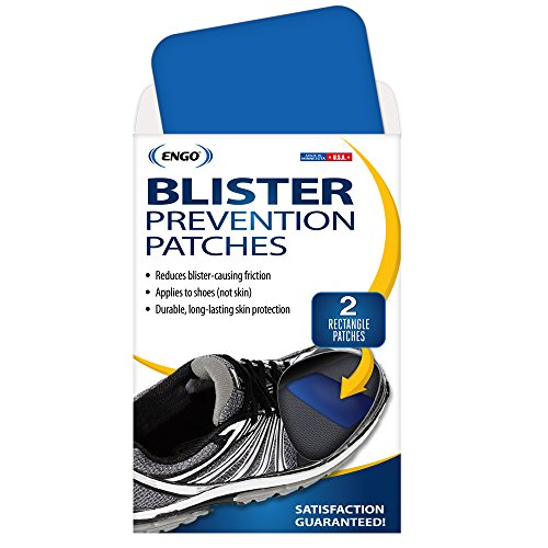 ENGO Rectangle Blister Prevention Patches (2 Patches) | Trim to Fit Boots, Skates, Cleats, Helmets, Equipment, Other Footwear by Engo