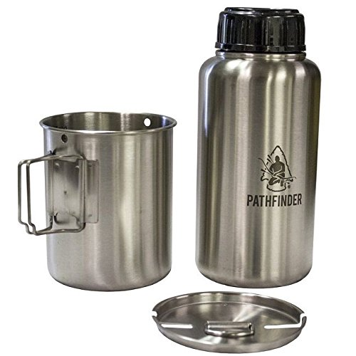 Pathfinder PTH006 Stainless Steel Backpacking Bottle & Nesting Cup Set by Pathfinder