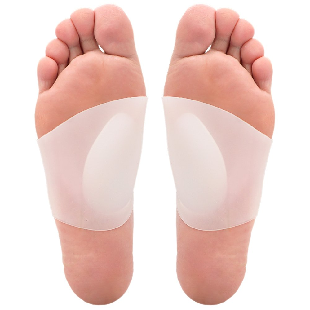 Skyfoot's Arch Support Plantar Fasciitis Soft Gel Sleeves for Flat Feet Pain Relief for Men and Women - 1 Pair (Small W5-9.5 l M4.5-8.5)