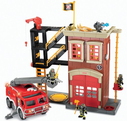 Imaginext Firestation & Fire Engine
