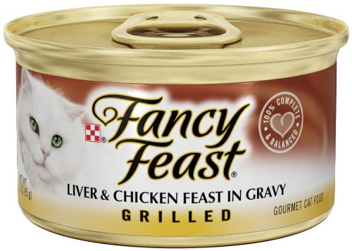 Purina Fancy Feast Grilled Liver & Chicken Feast in Gravy Cat Food - (24) 3 oz. Pull-top Can