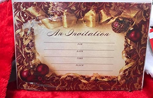 Christmas Theme Party Invitations 8 Ct Holiday Celebration Invites