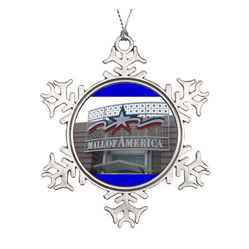LilithCroft99 Mall of America Pewter Snowflake Christmas Ornaments,Christmas Tree Decorations ()