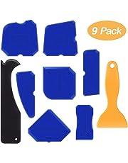 Alohar 9 Stücke Abdichtung Werkzeug Caulk Caps Sealant Schaber Kit Fugenglätter Set für Alle Badezimmer Küche Raum und Rahmen