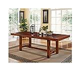 Walker Edison 96″ Solid Wood Dark Oak Dining Table