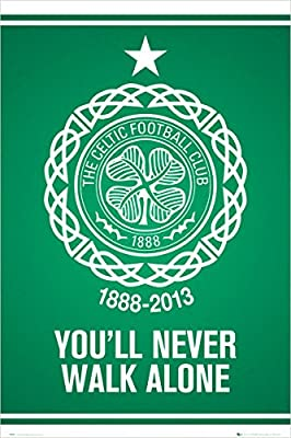 Celtic Club Crest F.C. (Football Club) 125 Year Anniversary EDITIONSoccer Sports Poster Print 24 by 36
