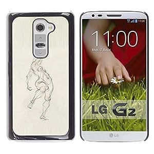 For LG G2 / D800 / D802 / D802TA / D803 / VS980 / LS980 Case , Pencil Woman Figure Body - Diseño Patrón Teléfono Caso Cubierta Case Bumper Duro Protección Case Cover Funda