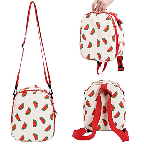 Lifewit Insulated Lunch Bag for Kids/Children/Students, Thermal Bento Bag for School/Picnic, Lunch Box with Adjustable Shoulder Strap for 4-Way Carrying, Red Reinforced Shoulder Straps