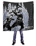 INTO THE AM Warband God of War Microfiber Fleece Throw Blanket, Standard (50'' x 60'')