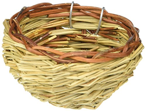 51JEyMwCpEL - Prevue Pet Products BPV1150 Canary Twig Birds Nest, 3-Inch