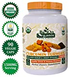 Cheap Organic Turmeric Curcumin with Bio Piper nigrum, 95% Curcumin Complex Formula Ginger Black Pepper 1500mg 90 Veg Caps Anti-Inflammatory, Antioxidant Supplement