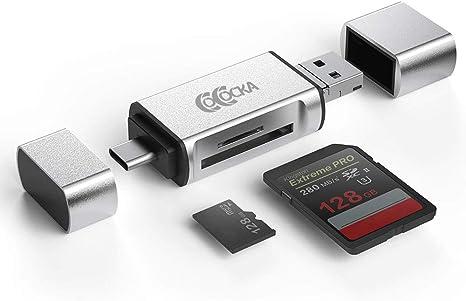 White Memory Card Reader with Micro USB Port HC Yosoo- USB3.1 Type-C to USB 2.0 OTG Hub SD//TF Micro SD