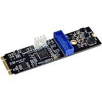 M.2 NGFF NVME naar USB 3.0 Uitbreidingskaart Front 19 Pin 2 Poorten USB 3.0 Uitbreidingsadapter Kaart converteren voor…