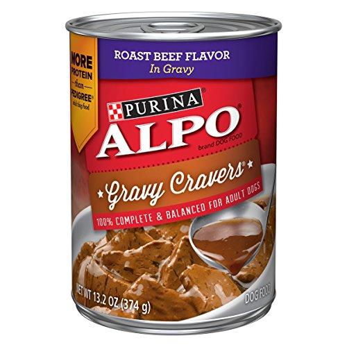 Purina ALPO Gravy Wet Dog Food; Gravy Cravers Roast Beef Flavor in Gravy - 13.2 oz. Can