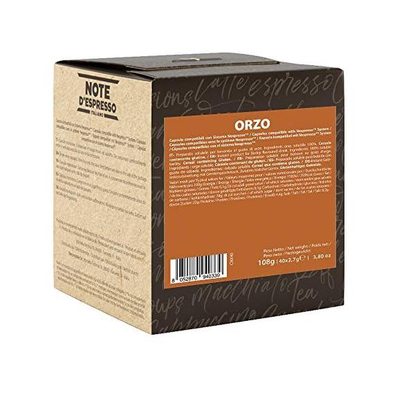 Note D'Espresso Preparato Solubile per Bevanda al Gusto di Orzo - 108 g (40 x 2.7 g) Esclusivamente Compatibili con le… 2 spesavip