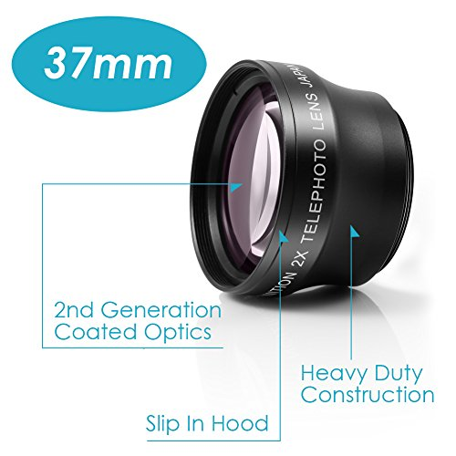 Neewer 37mm Telephoto Lens 2X PROFESSIONAL HD For Cameras &