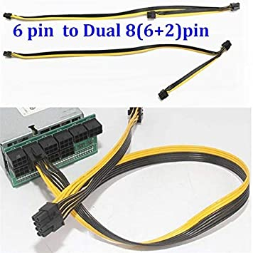 ShineBear New PC Server Hard Drive 15Pin SATA 1 to 5 Splitter Power Cable 18AWG Wire Cable Length: as Description