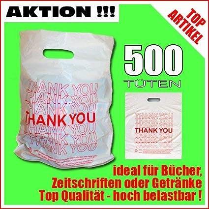 Te-Trend 500 Bolsas de Plástico Bolsas de Compra Bolsas con ...