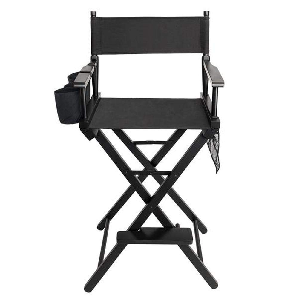 Lovinland Director's Chair Folding Makeup Artists Chair Wood Frame with Side Cup Holder, Side Storage Bag, Footrest by Lovinland