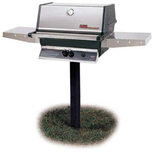 Mhp Gas Grills Tjk2 Natural Gas Grill W/ Stainless Grids On In-ground Post