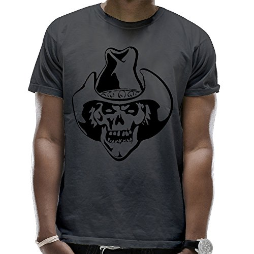 Heavy Cotton Skull Cowboy Adult Short-Sleeve T Shirt - Jeans Joker