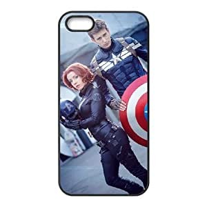 Captain Americ iPhone5s Cell Phone Case Black DAVID-108152
