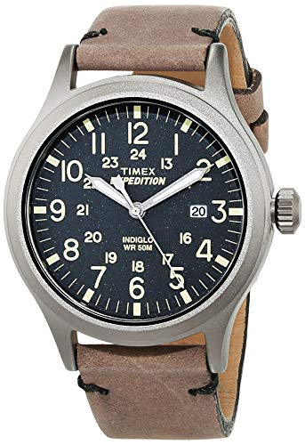 (Timex Men's Quartz Watch Timex Expedition Scout TW4B01700 with Leather Strap)