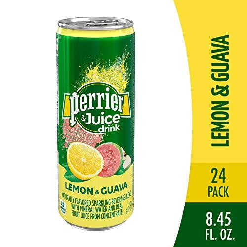 Perrier & Juice Drink, Lemon & Guava Flavor, 8.45 Fl Oz (24 Pack)