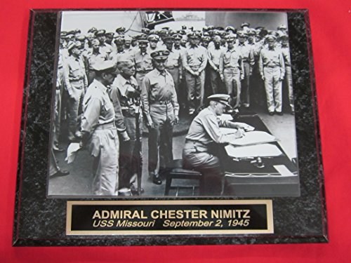 (World War 2 Surrender Admiral Chester Nimitz Collector Plaque w/8x10 Photo!)