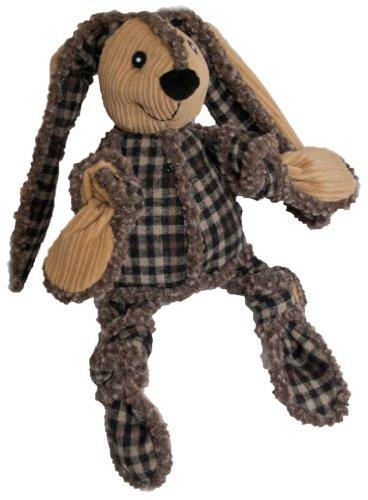 HuggleHounds Snuggie Bunnies Dog Toy, Tan, My Pet Supplies
