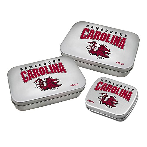 Worthy Promotional NCAA South Carolina Fighting Gamecocks Decorative Mint Tin 3-Pack with Sugar-Free Mini Peppermint Candies